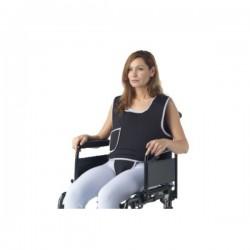 Colete de Tronco c/ Suporte Pélvico para Fixação à Cadeira de Rodas com Fecho Magnético