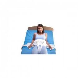 Cinto abdominal em tela acolchoada para cama com fecho em íman