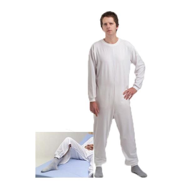 Pijama geriátrico de adulto com um fecho