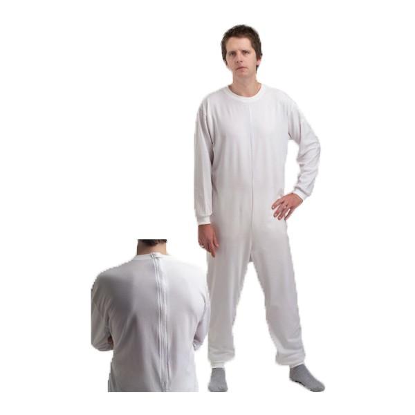 Pijama geriátrico de adulto com dois fechos