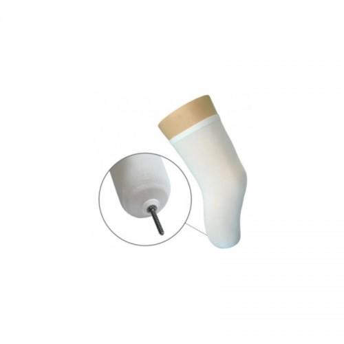 Meia para coto clássica com orifício em silicone