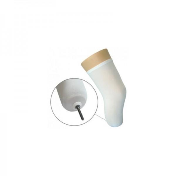 Meia para coto clássico com orifício em silicone