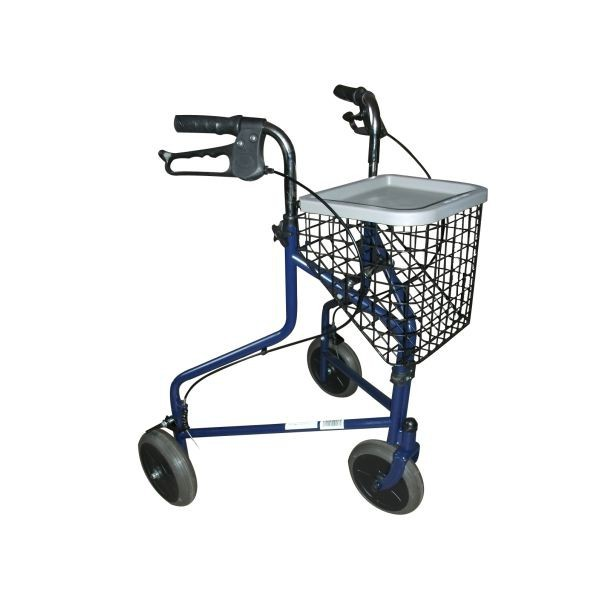 Andarilho DELTA com três rodas, cesta e travão