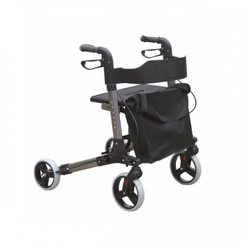 Andarilho Classic Xtra com quatro rodas, bolsa e travão