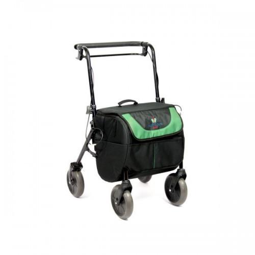 Andarilho Shopiroll com quatro rodas e bolsa