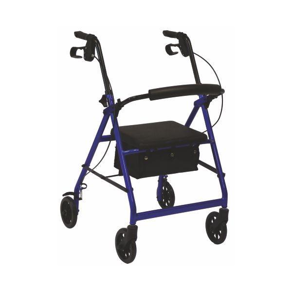Andarilho ALUBEST com quatro rodas, bolsa e travão