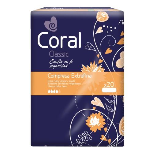 Pensos de Higiene Íntima Coral Extra-Fino