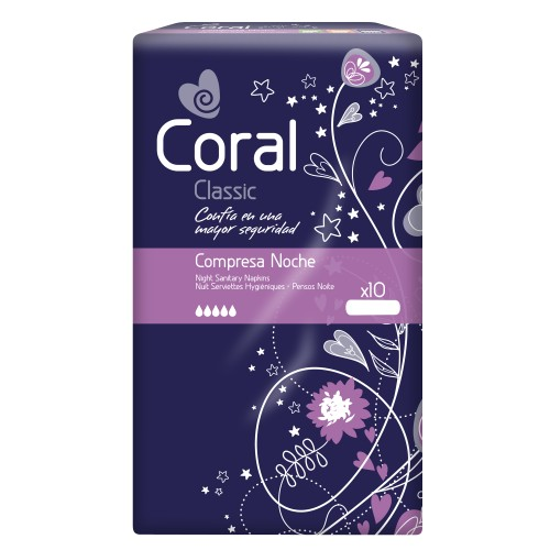 Pensos de Higiene Íntima Coral Noite