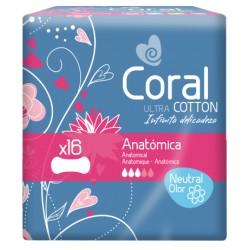 Pensos de Higiene Íntima Coral Ultra c/ neutralização de odores
