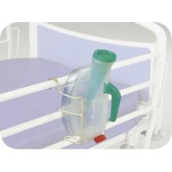 Suporte metálico em epoxi para urinol.
