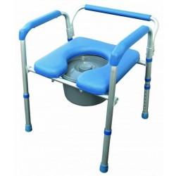 Alustyle-Cadeira WC/Banho 4 em 1 c/ Balde em Alumínio