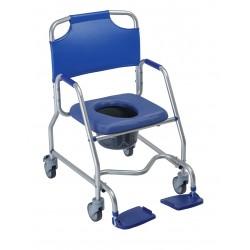 Cadeira duche/WC Obana com rodízios e balde