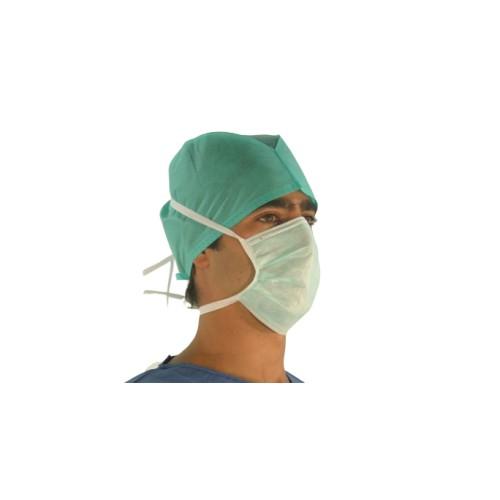 Máscara Cirúrgica-não Esterilizada 3 Camadas de não Tecido com Atilhos-Verde (caixas de 50 máscaras)