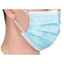 Máscara Cirúrgica-não Esterilizada 3 Camadas de não Tecido com elásticos-Azul (caixas de 50 máscaras)