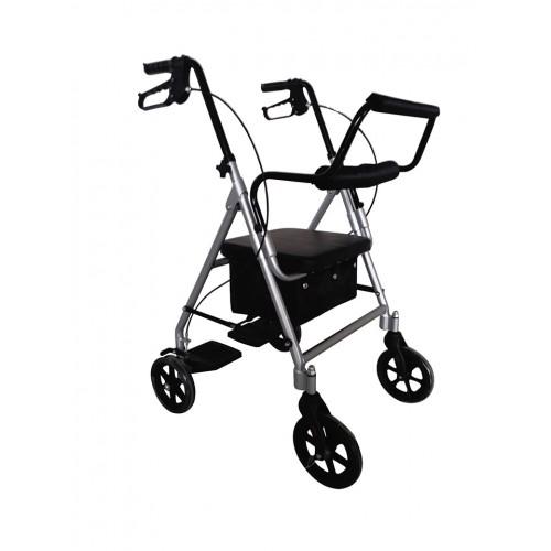 Andarilho Sit&Roll3 com quatro rodas, bolsa e travões