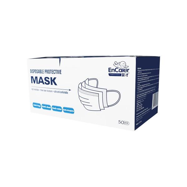 Máscaras Azuis de Proteção (3 camadas) c/ elásticos - Embalagens de 5 unidades
