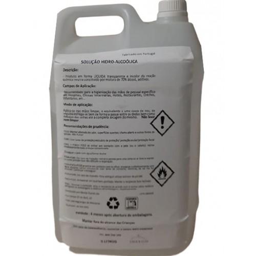 Solução Hidro-Alcoólica 70% (Desinfetante p/ Mãos)-5000ml