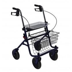 Andarilho SIMPLY ROLL com quatro rodas, cesta e travão