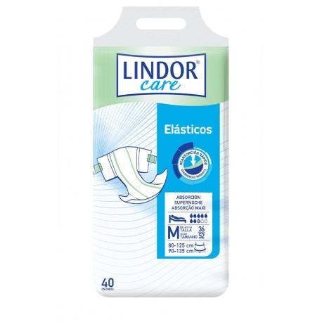 Lindor Care Fralda | Elásticos Maxi (bolsa 40 un) Médio