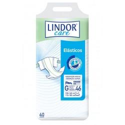 Lindor Care Fralda | Elásticos Super (Bolsa 40 un) Grande