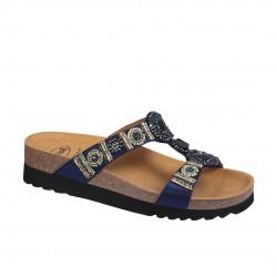 Sandália Ortopédica para Senhora - SCHOLL Modelo NEW BOGOTA Azul